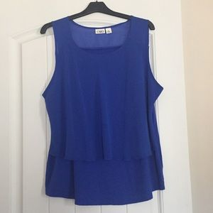 Double layered top Cato XL Cobalt Blue